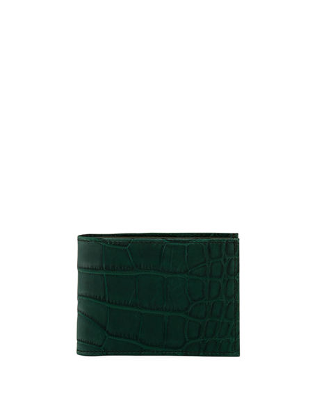 Image 1 of 3: Neiman Marcus Alligator Bi-Fold Wallet
