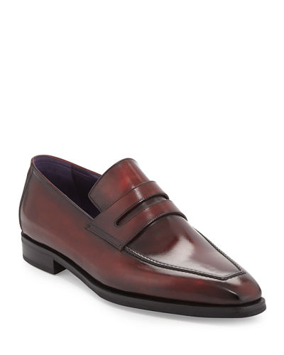 Andy Burnished Leather Loafer