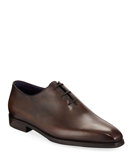 Image 1 of 3: Berluti Alessandro Demesure Leather Oxfords with Leather Sole