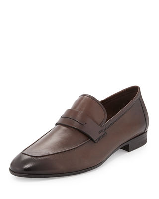 Berluti Lorenzo Calfskin Leather Loafer