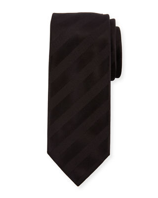 Brioni Ribbon Striped Silk Tie