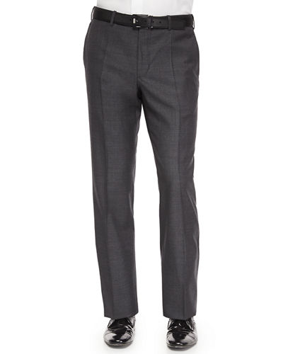 Incotex Benson Sharkskin Wool Trousers