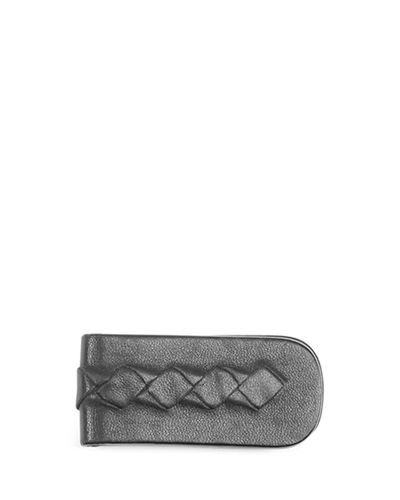 Bottega Veneta Woven Leather Money Clip