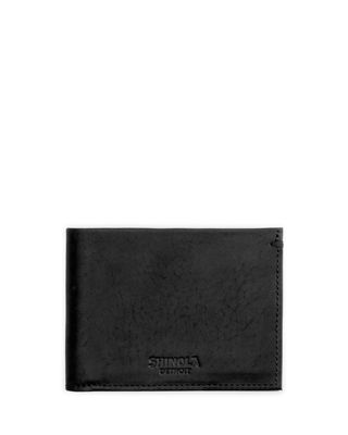 Shinola Slim Leather Bifold Wallet