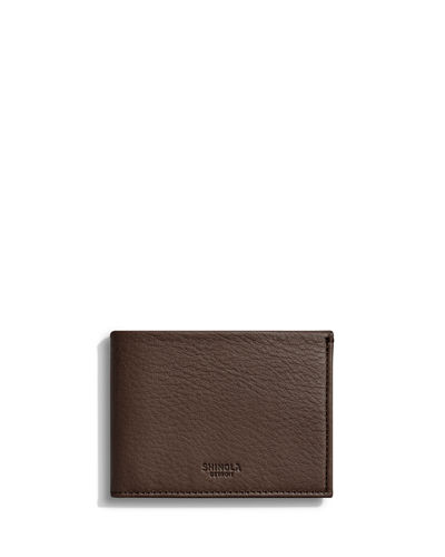 Shinola Men's Slim Leather Bifold Wallet