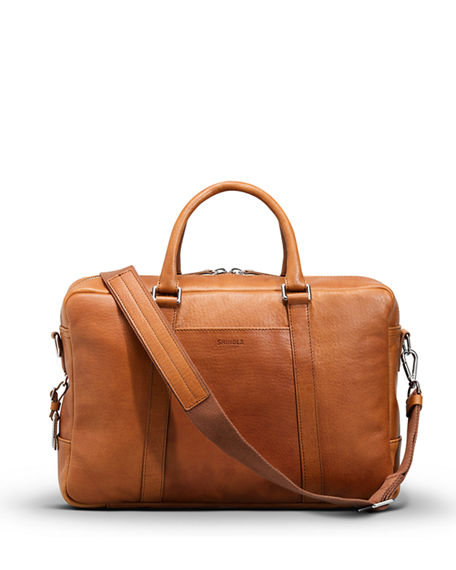 Shinola Men's Slim Leather Briefcase