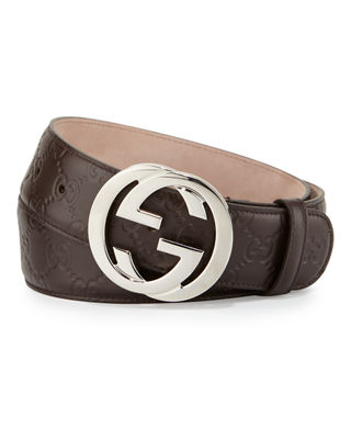 Gucci Interlocking G-Buckle Leather Belt and Matching Items
