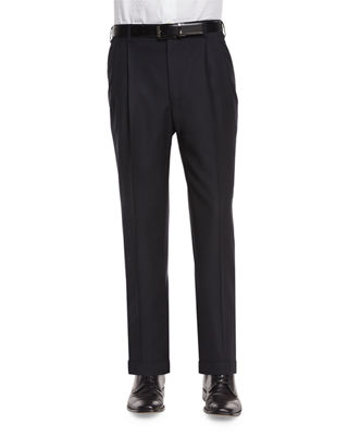 Bennett Pleated Super 150's Trousers