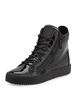 Men's Patent High-Top Sneaker