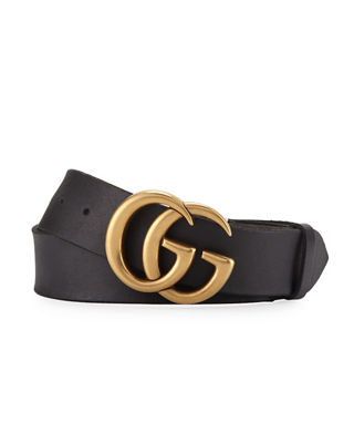 gucci mens leather belt with doubleg buckle neiman marcus