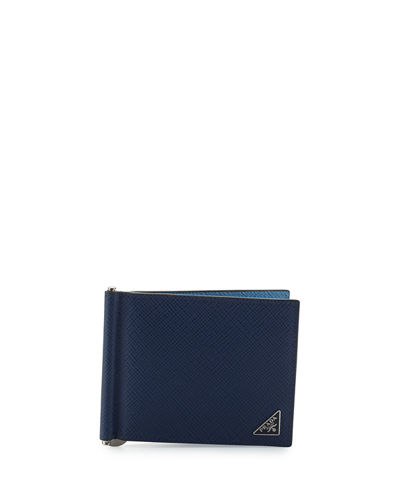 Saffiano Leather Money-Clip Wallet