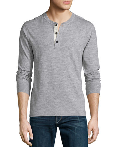 Rag & Bone Basic Long-Sleeve Henley Shirt &