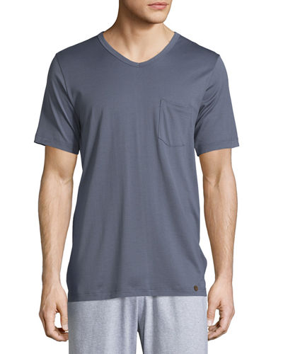Hanro Night & Day Short-Sleeve Tee W/Pocket