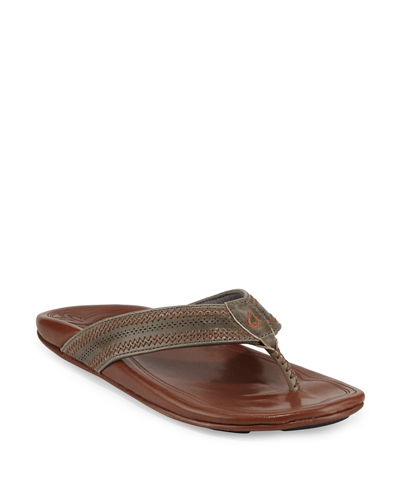 Po'okela Leather Thong Sandals