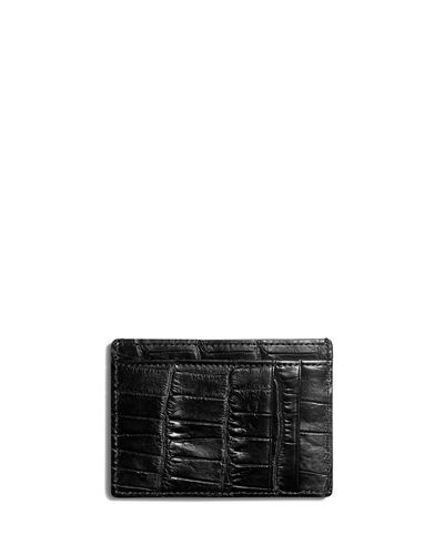 Shinola Alligator Six-Pocket Card Case