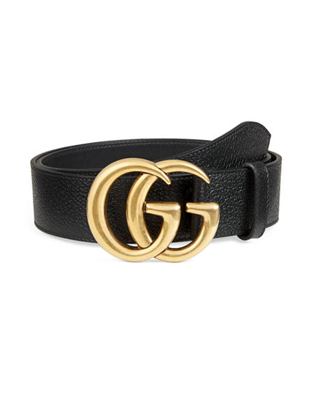 2a4df5cdab4 Gucci Reversible Leather Belt With Double G Buckle In Black
