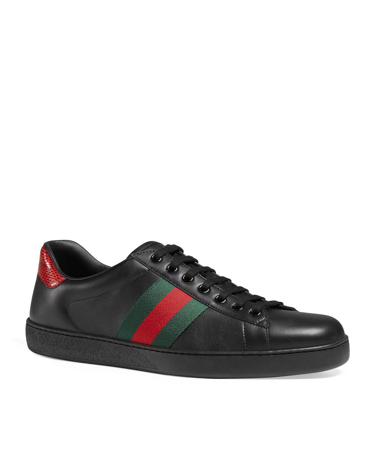 promo code a3f8e 1b4d1 Gucci Men s New Ace Leather Low-Top Sneakers