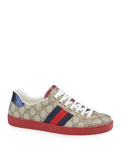 03442068e Gucci Lace Up Sneaker Shoes | Neiman Marcus