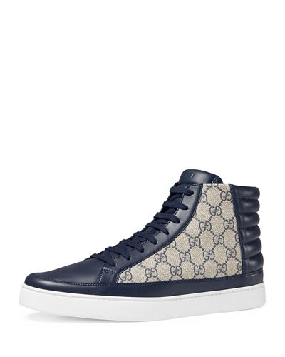 Gucci Common Canvas & Leather High-Top Sneaker