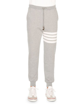 Classic Drawstring Sweatpants with Stripe Detail