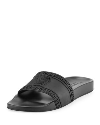 Versace Men's Medusa & Greek Key Shower Slide