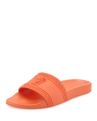Men's Medusa & Greek Key Shower Slide Sandal
