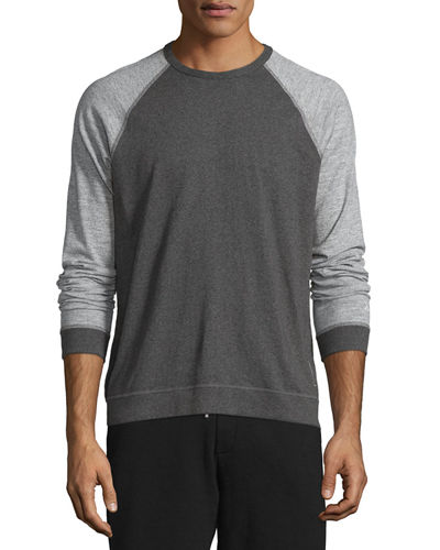 Rag & Bone Colorblock Raglan-Sleeve Baseball Shirt &