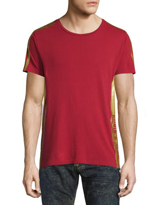 Robin's Jeans Gold-Striped Short-Sleeve T-Shirt