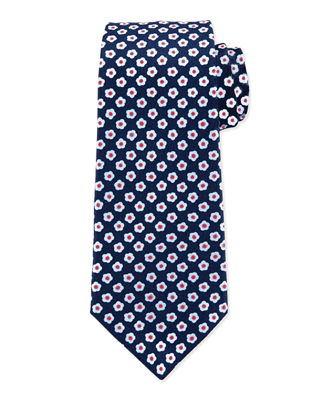 Kiton Fried Egg Printed Silk Tie