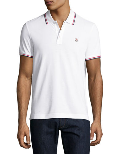 Moncler Tipped Piqué Polo Shirt