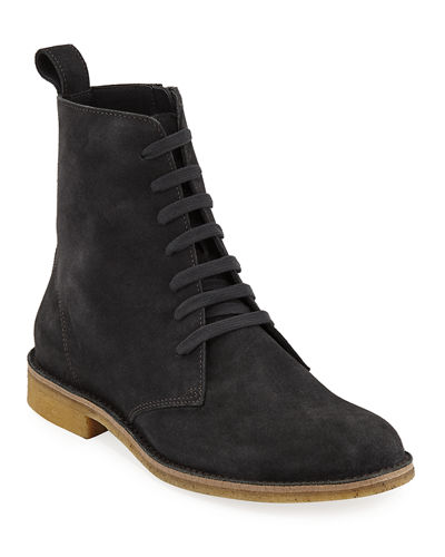 Men's Suede Lace-Up Boots