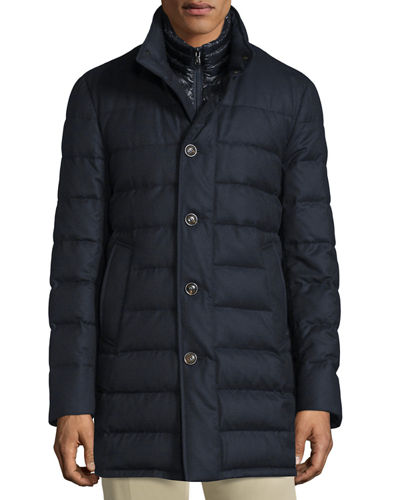 Vallier Quilted Down Coat