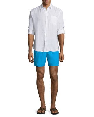 Image 3 of 3: Moorea Solid Swim Trunks