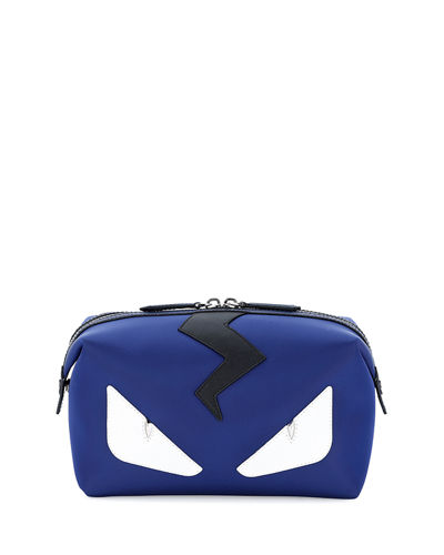 Fendi Monster Face Leather Toiletry Kit