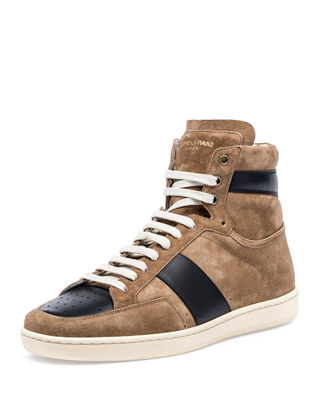 Colorblock Suede High-Top Sneaker