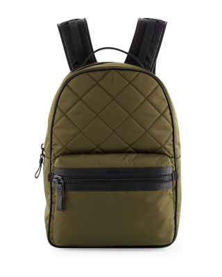 Men's Quilted Nylon Backpack