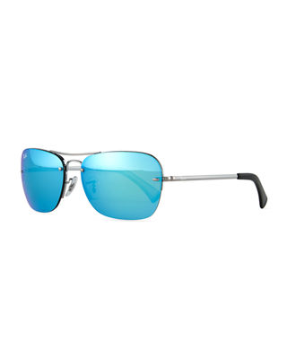 Ray-Ban Metal Aviator Sunglasses W/Mirror Lenses