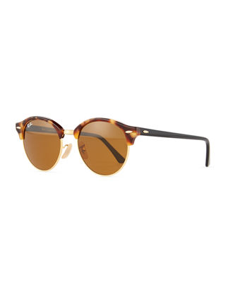 Image 1 of 5: Round Monochromatic Clubmaster® Sunglasses