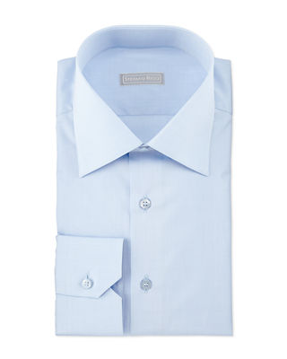 Stefano Ricci Basic Barrel-Cuff Dress Shirt
