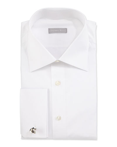 Stefano Ricci Basic French-Cuff Dress Shirt