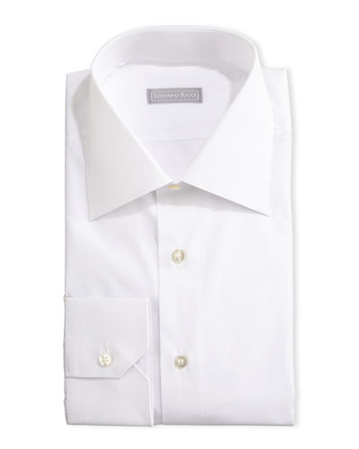 Basic Barrel-Cuff Dress Shirt