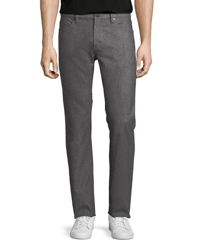 Men's Kane Straight-Fit Washed Melange Jeans