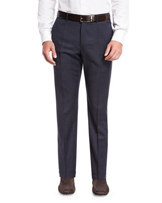 Incotex Benson Standard-Fit Grid Trousers