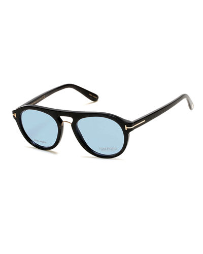 3cb27154e0c9 TOM FORD Tom N.3 Private Collection Real Horn Rounded Aviator Optical Frames