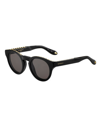 Studded Rounded Square Sunglasses