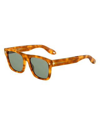 GIVENCHY SQUARE ACETATE SUNGLASSES, BROWN