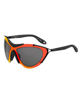 Image 1 of 2: Acetate Mask Sunglasses