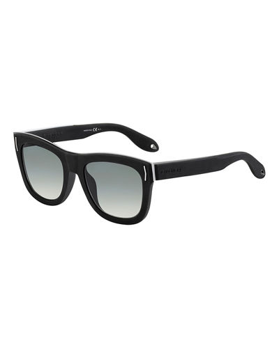 Metal & Rubber Square Sunglasses