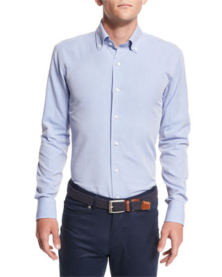 Peter Millar Collection Perfect Pinpoint Button-Front Shirt