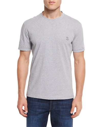 Brunello Cucinelli Cotton Spa T-Shirt & Donegal Crewneck